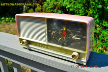 Load image into Gallery viewer, SOLD! - Oct 2, 2014 - POWDER PINK Retro Jetsons 1956 RCA Victor 8-C-7-FE Tube AM Clock Radio WORKS! , Vintage Radio - RCA Victor, Retro Radio Farm  - 4