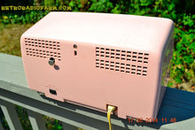 Load image into Gallery viewer, SOLD! - Oct 2, 2014 - POWDER PINK Retro Jetsons 1956 RCA Victor 8-C-7-FE Tube AM Clock Radio WORKS! , Vintage Radio - RCA Victor, Retro Radio Farm  - 11