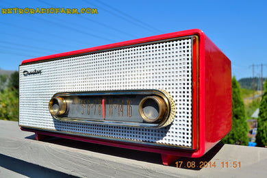 SOLD! - Sept 2, 2014 - CORAL PINK Retro Vintage 1950's Crosley T-60 RD AM Tube Radio WORKS! - [product_type} - Crosley - Retro Radio Farm