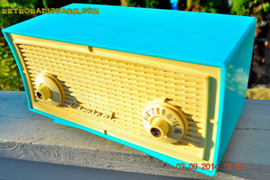 SOLD! - Oct 1, 2014 - SEAFOAM GREEN Retro Jetsons Vintage 1958 Admiral Model 248 AM Tube Radio WORKS! , Vintage Radio - Admiral, Retro Radio Farm  - 3
