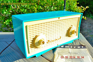 SOLD! - Oct 1, 2014 - SEAFOAM GREEN Retro Jetsons Vintage 1958 Admiral Model 248 AM Tube Radio WORKS! , Vintage Radio - Admiral, Retro Radio Farm  - 4