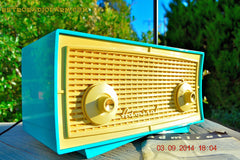 SOLD! - Oct 1, 2014 - SEAFOAM GREEN Retro Jetsons Vintage 1958 Admiral Model 248 AM Tube Radio WORKS! , Vintage Radio - Admiral, Retro Radio Farm  - 2