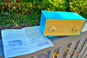 SOLD! - Oct 1, 2014 - SEAFOAM GREEN Retro Jetsons Vintage 1958 Admiral Model 248 AM Tube Radio WORKS! , Vintage Radio - Admiral, Retro Radio Farm  - 5