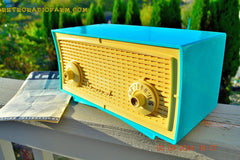 SOLD! - Oct 1, 2014 - SEAFOAM GREEN Retro Jetsons Vintage 1958 Admiral Model 248 AM Tube Radio WORKS! , Vintage Radio - Admiral, Retro Radio Farm  - 6
