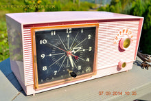 Load image into Gallery viewer, SOLD! - Sept 28, 2014 - BUBBLE GUM Pink Retro 1956 RCA Victor Model 6-C-5 AM Clock Radio Works! , Vintage Radio - RCA Victor, Retro Radio Farm  - 5