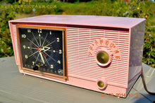 Load image into Gallery viewer, SOLD! - Sept 28, 2014 - BUBBLE GUM Pink Retro 1956 RCA Victor Model 6-C-5 AM Clock Radio Works! , Vintage Radio - RCA Victor, Retro Radio Farm  - 1