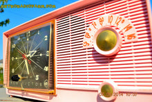 Load image into Gallery viewer, SOLD! - Sept 28, 2014 - BUBBLE GUM Pink Retro 1956 RCA Victor Model 6-C-5 AM Clock Radio Works! , Vintage Radio - RCA Victor, Retro Radio Farm  - 7