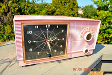 Load image into Gallery viewer, SOLD! - Sept 28, 2014 - BUBBLE GUM Pink Retro 1956 RCA Victor Model 6-C-5 AM Clock Radio Works! , Vintage Radio - RCA Victor, Retro Radio Farm  - 8