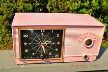 Load image into Gallery viewer, SOLD! - Sept 28, 2014 - BUBBLE GUM Pink Retro 1956 RCA Victor Model 6-C-5 AM Clock Radio Works! , Vintage Radio - RCA Victor, Retro Radio Farm  - 6