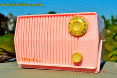 SOLD! - Sept 28, 2014 - BABY GIRL PINK Retro Jetsons Vintage 1959 Admiral 4L2A Tube AM Radio WORKS! , Vintage Radio - Admiral, Retro Radio Farm  - 5