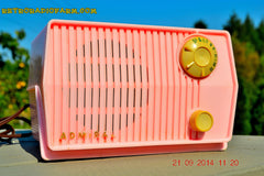 SOLD! - Sept 28, 2014 - BABY GIRL PINK Retro Jetsons Vintage 1959 Admiral 4L2A Tube AM Radio WORKS! , Vintage Radio - Admiral, Retro Radio Farm  - 4