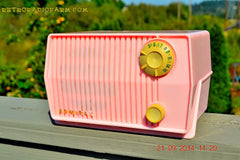SOLD! - Sept 28, 2014 - BABY GIRL PINK Retro Jetsons Vintage 1959 Admiral 4L2A Tube AM Radio WORKS! , Vintage Radio - Admiral, Retro Radio Farm  - 6