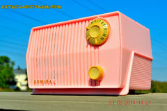SOLD! - Sept 28, 2014 - BABY GIRL PINK Retro Jetsons Vintage 1959 Admiral 4L2A Tube AM Radio WORKS! , Vintage Radio - Admiral, Retro Radio Farm  - 3
