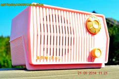SOLD! - Sept 28, 2014 - BABY GIRL PINK Retro Jetsons Vintage 1959 Admiral 4L2A Tube AM Radio WORKS! , Vintage Radio - Admiral, Retro Radio Farm  - 7