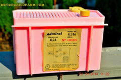 SOLD! - Sept 28, 2014 - BABY GIRL PINK Retro Jetsons Vintage 1959 Admiral 4L2A Tube AM Radio WORKS! , Vintage Radio - Admiral, Retro Radio Farm  - 10