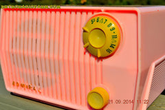 SOLD! - Sept 28, 2014 - BABY GIRL PINK Retro Jetsons Vintage 1959 Admiral 4L2A Tube AM Radio WORKS! , Vintage Radio - Admiral, Retro Radio Farm  - 8