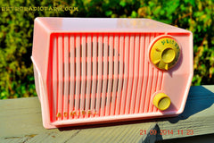 SOLD! - Sept 28, 2014 - BABY GIRL PINK Retro Jetsons Vintage 1959 Admiral 4L2A Tube AM Radio WORKS! , Vintage Radio - Admiral, Retro Radio Farm  - 2