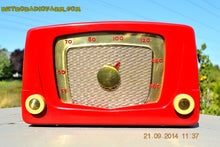 Load image into Gallery viewer, SOLD! - Sept 28, 2014 - CARDINAL RED Retro Vintage 1951 Silvertone Model 5 AM Tube Radio WORKS! , Vintage Radio - Silvertone, Retro Radio Farm  - 4