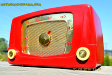 Load image into Gallery viewer, SOLD! - Sept 28, 2014 - CARDINAL RED Retro Vintage 1951 Silvertone Model 5 AM Tube Radio WORKS! , Vintage Radio - Silvertone, Retro Radio Farm  - 7