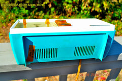 SOLD! - Dec 9, 2014 - SEAFOAM Green Turquoise Retro Jetsons Vintage 1956 Truetone DC-2083 AM Tube Clock Radio WORKS! , Vintage Radio - Truetone, Retro Radio Farm  - 8
