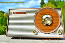 Load image into Gallery viewer, SOLD! - Oct. 22, 2014 - FAUX WOOD GRAIN DIAL! Retro Jetsons Vintage 1963 Motorola T25BN AM Tube Radio WORKS! - [product_type} - Motorola - Retro Radio Farm