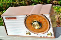 SOLD! - Oct. 22, 2014 - FAUX WOOD GRAIN DIAL! Retro Jetsons Vintage 1963 Motorola T25BN AM Tube Radio WORKS! , Vintage Radio - Motorola, Retro Radio Farm  - 7