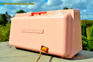 SOLD! - Sept 30, 2014 - POWDER PINK Retro Jetsons Vintage 1958 RCA 1-RA-43 AM Tube Radio WORKS! , Vintage Radio - RCA Victor, Retro Radio Farm  - 7