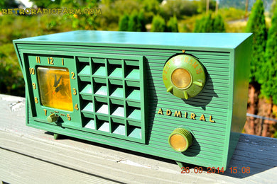 SOLD! - Nov. 14, 2014 PEA GREEN Retro Jetsons Vintage 1955 Admiral 5S33 - [product_type} - Admiral - Retro Radio Farm