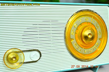 Load image into Gallery viewer, SOLD! - Sept 28, 2014 - OCEAN TURQUOISE Retro Jetsons Vintage 1958 RCA 1-RA-45 AM Tube Radio WORKS! - [product_type} - RCA Victor - Retro Radio Farm
