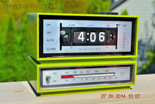Load image into Gallery viewer, SOLD! - Dec 29, 2014 - GRASSHOPPER GREEN Retro Jetsons Vintage 1960's or 1970's Westclox AM/FM Solid State Clock Radio Alarm WORKS! - [product_type} - Westclox - Retro Radio Farm