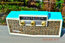 Load image into Gallery viewer, MING BLUE Retro Jetsons Vintage 1959 Silvertone 9009 AM Tube Radio Totally Restored! - [product_type} - Retro Radio Farm - Retro Radio Farm