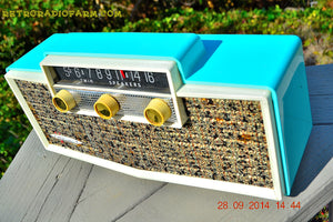 MING BLUE Retro Jetsons Vintage 1959 Silvertone 9009 AM Tube Radio Totally Restored! - [product_type} - Motorola - Retro Radio Farm