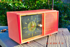 SOLD! - Jan 9, 2015 - HOT PINK Retro Jetsons Vintage 1957 Truetone Western Auto Supply Model DC2852 AM Tube Clock Radio , Vintage Radio - Truetone, Retro Radio Farm  - 5