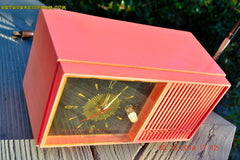 SOLD! - Jan 9, 2015 - HOT PINK Retro Jetsons Vintage 1957 Truetone Western Auto Supply Model DC2852 AM Tube Clock Radio , Vintage Radio - Truetone, Retro Radio Farm  - 3
