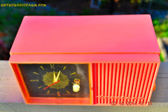 SOLD! - Jan 9, 2015 - HOT PINK Retro Jetsons Vintage 1957 Truetone Western Auto Supply Model DC2852 AM Tube Clock Radio , Vintage Radio - Truetone, Retro Radio Farm  - 7