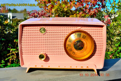 SOLD! - Jan 9, 2014 - PINK TIFFANY Retro Jetsons Vintage 1956 RCA Victor Model 8-X-6F AM Tube Radio WORKS! , Vintage Radio - RCA Victor, Retro Radio Farm  - 1