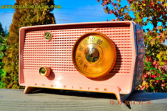 SOLD! - Jan 9, 2014 - PINK TIFFANY Retro Jetsons Vintage 1956 RCA Victor Model 8-X-6F AM Tube Radio WORKS! , Vintage Radio - RCA Victor, Retro Radio Farm  - 4