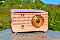 SOLD! - Jan 9, 2014 - PINK TIFFANY Retro Jetsons Vintage 1956 RCA Victor Model 8-X-6F AM Tube Radio WORKS! , Vintage Radio - RCA Victor, Retro Radio Farm  - 3