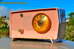 SOLD! - Jan 9, 2014 - PINK TIFFANY Retro Jetsons Vintage 1956 RCA Victor Model 8-X-6F AM Tube Radio WORKS! , Vintage Radio - RCA Victor, Retro Radio Farm  - 5