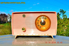 SOLD! - Jan 9, 2014 - PINK TIFFANY Retro Jetsons Vintage 1956 RCA Victor Model 8-X-6F AM Tube Radio WORKS! , Vintage Radio - RCA Victor, Retro Radio Farm  - 2