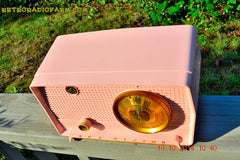 SOLD! - Jan 9, 2014 - PINK TIFFANY Retro Jetsons Vintage 1956 RCA Victor Model 8-X-6F AM Tube Radio WORKS! , Vintage Radio - RCA Victor, Retro Radio Farm  - 6
