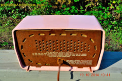 SOLD! - Jan 9, 2014 - PINK TIFFANY Retro Jetsons Vintage 1956 RCA Victor Model 8-X-6F AM Tube Radio WORKS! , Vintage Radio - RCA Victor, Retro Radio Farm  - 7
