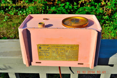 SOLD! - Jan 9, 2014 - PINK TIFFANY Retro Jetsons Vintage 1956 RCA Victor Model 8-X-6F AM Tube Radio WORKS! , Vintage Radio - RCA Victor, Retro Radio Farm  - 8
