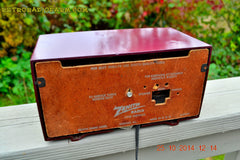 SOLD! - Dec 30, 2014 - BURGUNDY CABERNET Retro Jetsons Vintage 1957 Zenith B508R AM Tube Radio WORKS! , Vintage Radio - Zenith, Retro Radio Farm  - 9