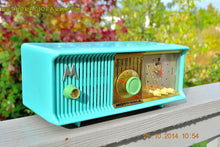 Load image into Gallery viewer, SOLD! - Nov 28, 2014 - VIVID Turquoise Retro Jetsons 1957 Motorola 57CC Tube AM Clock Radio WORKS! , Vintage Radio - Motorola, Retro Radio Farm  - 1