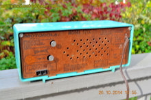 Load image into Gallery viewer, SOLD! - Nov 28, 2014 - VIVID Turquoise Retro Jetsons 1957 Motorola 57CC Tube AM Clock Radio WORKS! , Vintage Radio - Motorola, Retro Radio Farm  - 11