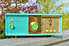 Load image into Gallery viewer, SOLD! - Nov 28, 2014 - VIVID Turquoise Retro Jetsons 1957 Motorola 57CC Tube AM Clock Radio WORKS! , Vintage Radio - Motorola, Retro Radio Farm  - 3