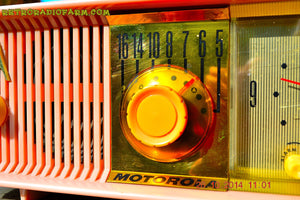 SOLD! - Nov 28, 2014 - PINK PUSSYCAT Retro Jetsons 1957 Motorola 57CC Tube AM Clock Radio WORKS! , Vintage Radio - Motorola, Retro Radio Farm  - 8