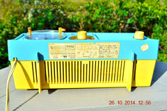 SOLD! - Dec 9, 2014 - BABY BLUE Retro Jetsons 1957 Motorola 5C14CW Tube AM Clock Radio WORKS! , Vintage Radio - Motorola, Retro Radio Farm  - 11