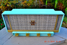 Load image into Gallery viewer, SOLD! - April 13, 2015 - MP3 READY - PLAN 9 FROM OUTER SPACE Ice Blue Retro Jetsons Vintage 1957 Silvertone Model 13 AM Tube Radio Totally Restored! - [product_type} - Silvertone - Retro Radio Farm